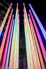 Extrude (Angus Muir) (Japester68) Tags: city light sculpture festival night harbor harbour outdoor sydney vivid australia event nsw rod column aus 3star