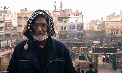 Man from old Delhi | India (Hadi Zaher) Tags: street old city travel portrait people india man building face beard delhi human masjid jama incredibleindia