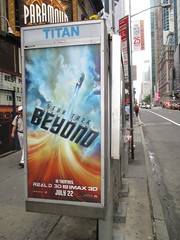 Star Trek Beyond Poster Billboard Phone Booth AD 2016 NYC 1890 (Brechtbug) Tags: show street new york city nyc fiction film television st trek booth movie poster star tv jj theater phone mr theatre near manhattan district space rip ad broadway science billboard midtown sidewalk ave captain spock scifi series beyond anton 1960s avenue abrams 7th futuristic kirk 42nd 2016 standee standees yelchin 06282016