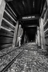 infinity is as near as it is far (Super G) Tags: blackandwhite bw selfportrait abandoned mine mercury tunnel quicksilver mineshaft scs nikon259