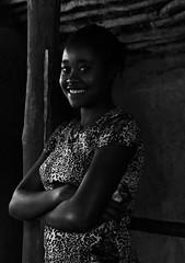 Aari Girl (Rod Waddington) Tags: africa african afrika afrique ethiopia ethiopian ethnic etiopia ethnicity ethiopie etiopian culture cultural aari tribe tribal traditional girl female blackandwhite monochrome portrait indoor smile