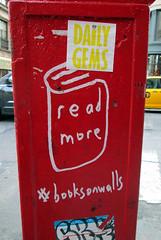 READ MORE (rhem rhem) Tags: nyc books daily read more walls gems booksonwalls