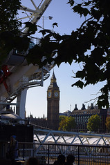 D11785.  Big Ben from the South Bank.  (Despite what it says under the map!) (Ron Fisher) Tags: uk greatbritain england london pentax unitedkingdom londoneye bigben southbank gb pentaxkx