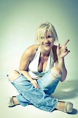 IMG_8795-2 (DirkP.) Tags: white highheels legs jeans pantyhose nylons hotpants backround