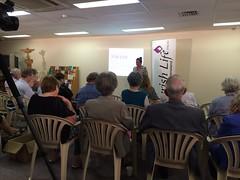 Presenting AFL to new friends in Brisbane.