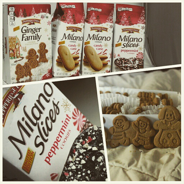 Tis the season for Milano cookies and stuffing from Pepperidge Farm! Enjoy seasonal limited-edition must-haves like Candy Cane Cookies and Peppermint Slices - all offer Milanos signature butter cookie and chocolate, with the yummy addition of mint! Milan