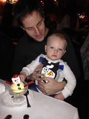 """Paul and Daddy Eat Snowman Ice Cream at the Walnut Room • <a style=""""font-size:0.8em;"""" href=""""http://www.flickr.com/photos/109120354@N07/15475194663/"""" target=""""_blank"""">View on Flickr</a>"""
