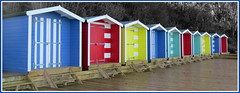 Beach Huts (snaphappysal) Tags: sea cliff beach sailing donkey hut needle isleofwight cowes wight osbornehouse