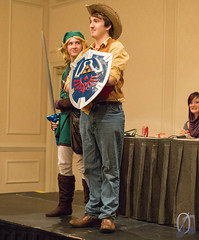 Noble ponyfolk (Kezzsim) Tags: horse hat cosplay neworleans competition southern link sword shield epona mlp mylittlepony thelegendofzelda braeburn derpyconsouth