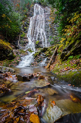 Mingo Falls (Bradley Nash Burgess) Tags: longexposure autumn fall nature leaves outdoors waterfall nc nikon tokina cherokee ultrawide mingo cherokeenc mingofalls neverstopexploring gooutsideandplay d7000 nikond7000