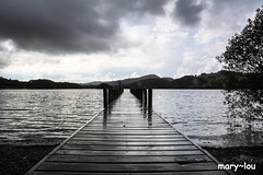 DSC_3746 (mary~lou) Tags: wood lake wet water wooden dock nikon cloudy jetty poles dull maryfletcher 15challengeswinner mary~lou
