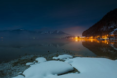 After the battle (AndreaPizzato) Tags: sunset people lake snow cold ice by night stars italian nikon geographic ngi 2470 d700 nginationalgeographicbyitalianpeople andreapizzato