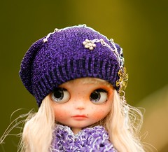 Blythe Slouchy Glamour Sparkle Silver Embroidery Beads Hat