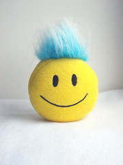 10 Children's soft toy, smileys, colorful hairstyles Iroquois blue (Eli Rolandova) Tags: smile emoticons smiley stuffedtoys happyface smileyface kidstoys fauxfur childrenssofttoys colorfulhairstylesiroquois emoticonsplush