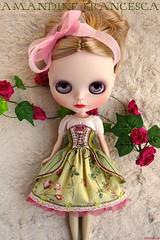 Ooak Dress Set ≈ Amandine Francesca ≈ for Blythe doll handmade by Kikihalb