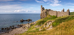 Dunure Castle # 2 (Katybun of Beverley) Tags: castle beach clouds landscape coast scotland scenery rocks shoreline ruin scenic coastal coastline ayr westcoast dunurecastle southayeshire