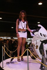 Motorbike Expo Model (themax2) Tags: girl model highheels legs verona hostess miniskirt 2009 lowangle promoter motorbikeexpo
