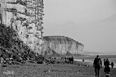 West Bay (Margaret Preuss-Higham) Tags: blackandwhite bw cliff mono sandstone angleterre dday jurassic westbay noiretblance westdorset visitengland broadchurch visitdorset