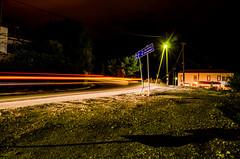 """El. Venizelos"" light trails (kutruvis nick) Tags: road longexposure trees light house sign night sand nikon shadows trails hellas greece slowshutter nik poles asphalt lavrio attiki elvenizelos d5100 kutruvis agkonstandinos"
