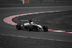 Motorsport Colour Splash. (phillawsphotography) Tags: red blackandwhite white black nikon norfolk formula dslr coloursplash motorsport snetterton nikond3100