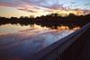 Catchment pond sunset