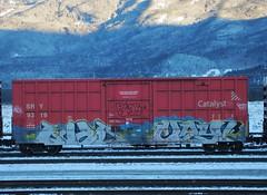 Catalyst Chrome (YardJock) Tags: railroad metal train graffiti steel tracks boxcar rolling sry freighttrain benching benchreport