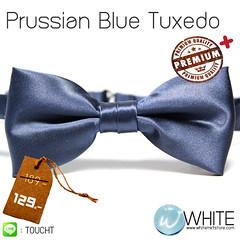 Prussian Blue Tuxedo - หูกระต่าย สีกรมท่าเข้ม เนื้อผ้าผิวมัน เรียบ เกรต A   ขายส่ง รับผลิต และ นำเข้า