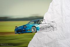 Sketch my Drift I (Sonick Photographie) Tags: blue car sport racetrack race japanese sketch nissan voiture course bleu sheet circuit jdm drift feuille croquis 200sx japonaise pouillyenauxois rs13