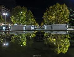 Reflejos en Zorrilla (Pedro San Jos) Tags: longexposure night fuente valladolid reflejo nocturna largaexposicion plazadezorrilla