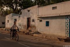 School Time (Adventurer_007) Tags: morning trees light people india green kids photography nikon shadows streetphotography riding cycle lane golkonda hyderabad sunrays d300s