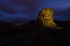 Dolbadarn Castle, Llanberis, North Wales (Subversive Photography) Tags: light colour castle art abandoned wales architecture clouds landscape ruins dusk flash snowdon romantic sublime derelict strobe otherworldly dolbadarn danielbarter