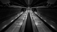 Escalating Within The Machine (Jarrad.) Tags: london underground nikon escalator londonunderground d700 jaymarksimages