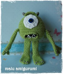 Crochet amigurumi Mr. Mike Wazowski (maiu amigurumi) Tags: mike handicraft toys handmade crochet cartoon yarn amigurumi handwork wazowski crocheting amigurumitoys