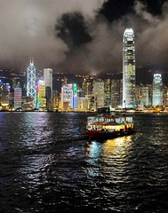 Ferry and Central Hong Kong by night (the.bryce) Tags: ferry night hongkong starferry victoriaharbour hongkongbay