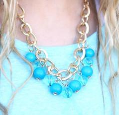 Glimpse of Malibu Blue Necklace K1 P2710-2
