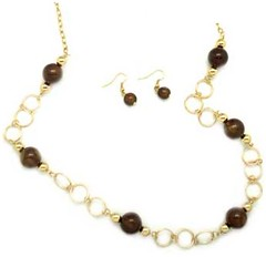 5th Avenue Brown Necklace P2320-5