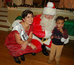 Maria Walsh with Santa and Logan Joyce