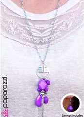 Glimpse of Malibu Purple Necklace K3 P2430-2
