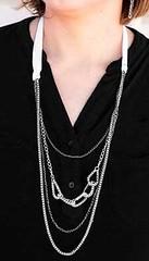 5th Avenue White Necklace P2610A-5