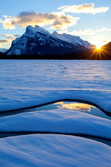 Sparkle (stevenbulman44) Tags: blue winter sky sun snow reflection ice water landscape frozen sparkle alberta banff rundle lseries 1740f40l