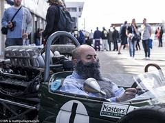 2014 Zandvoort Historic GP: David Brabham (8w6thgear) Tags: portrait beard f1 historic grandprix formula1 zandvoort pitlane brabham 2014 davidbrabham repco bt19