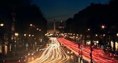 De la rue Royale aux Invalides (Loc Rolas) Tags: light paris trails invalides obelisk lighttrails bluehour oblisque endoftheday parisbynight cartrails