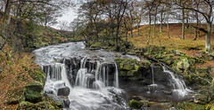 Nelly Ayre - Oct 2014 (Katybun of Beverley) Tags: longexposure trees landscape waterfall rocks autumnal northyorkshire goathland northyorkshiremoors nellyayrefoss