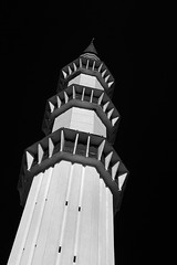 The minaret... Black and white infraRed. (Kamaruz Zaman) Tags: autumn canon blackandwhiteinfrared canonphotography artofnature canon7d autumninfrared autumnbyazamalwi