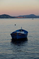 Pointu in the sunset (L'Instant H Photography) Tags: sea france boat fujifilm frenchriviera laseynesurmer frenchrivera pointu greatphotographers plagebelgantier