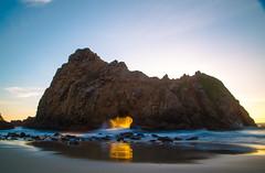 Pfeiffer Beach (theordinaryphotographer) Tags: sunset bigsur keyhole pfeifferbeach keyholerock