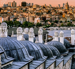 Istanbul (BeNowMeHere) Tags: trip travel sunset colour turkey colorful istanbul mosque bosphorus galata suleymaniye halic galatatower 500px ifttt benowmehere