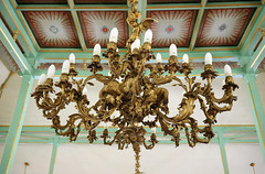 Hanging Lamp in The Pendopo of Mangkunegaran Palace, Solo City, Indonesia (ARIAMAN) Tags: castle history lamp architecture java palace solo indo jawa lampu surakarta keraton jawatengah mangkunegaran mangkunegara