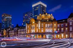 Beyond the Centuries, Tokyo Station (45tmr) Tags: japan tokyo twilight nightscape 東京 夜景 pentaxk3