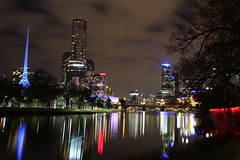 yarra River - Melbourne (tracyevans3558) Tags: tower river melbourne nighttime yarra rialto eureka